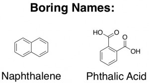 Naphthalene and phthalic acid