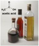 Acetic acid in vinegar