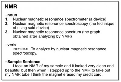 nuclear magnetic resonance organic chemistry